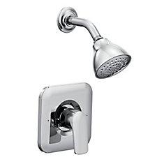 Ensemble de garniture de robinet de douche Rizon à poignée unique 1 spray Posi-Temp en chrome (robinet vendu séparément)