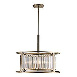 Bel Air Lighting 4 Light Cage Glass Prism Pendant-Asl