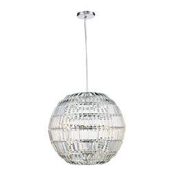 Bel Air Lighting Small 3 Light Crystal Sphere Pendant