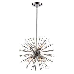 Bel Air Lighting 20-inch Metal Starburst Pendant Light Fixture