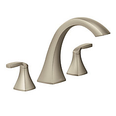 Voss Two-Handle High Arc Roman Tub Faucet In Brushed Nickel (Valve Sold Separately)