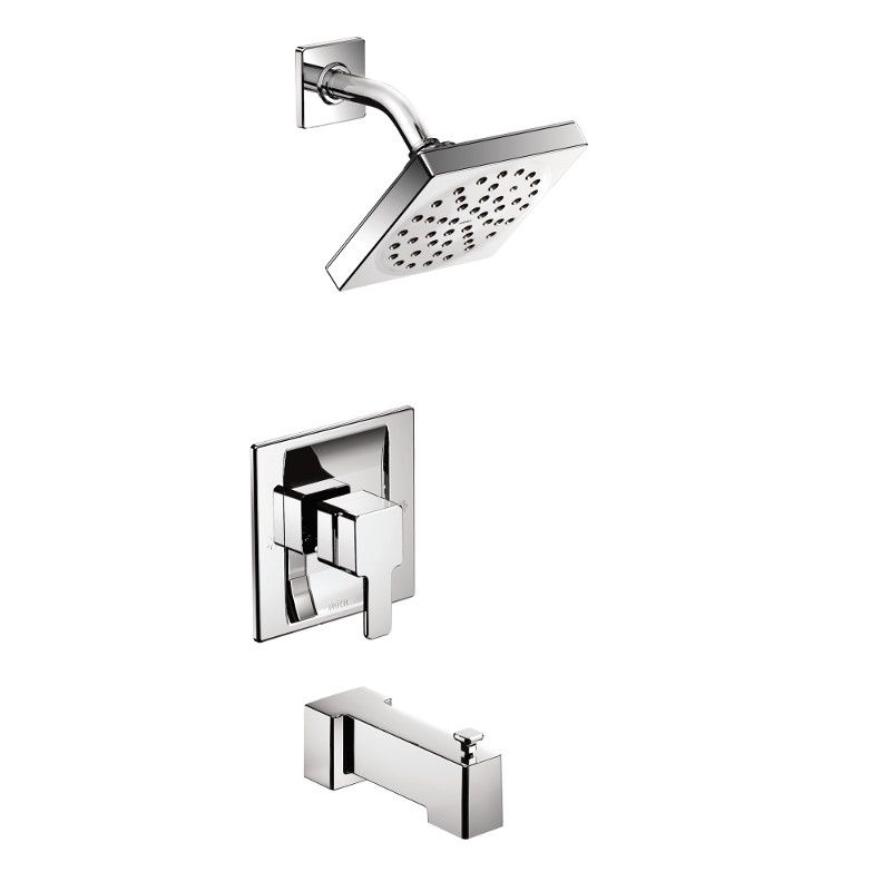 Moen  Weymouth Posi-Temp 2-Spray Shower Faucet in Chrome (Valve Sold Separately)