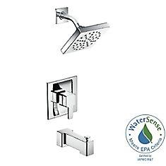 Ensemble de garniture de robinet de douche et de poignée simple Posi-Temp 90 degrés en chrome (robinet vendu séparément)
