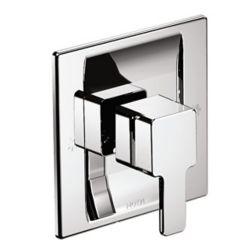 MOEN Ensemble de garniture de baignoire et de douche de 90 degrés pour baignoire et douche en chrome (valve vendue séparément)