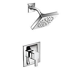 Ensemble de garniture de douche à 90 degrés en chrome (valve vendue séparément)
