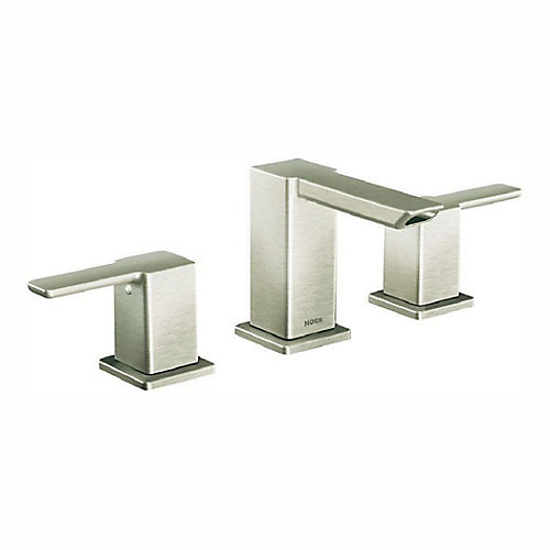 90-Degree 8-Inch Widespread 2-Handle Bathroom Faucet Trim Kit in Brushed Nickel (Valve Not Included)