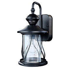 150 Degree Black Motion Activated Outdoor Wall Lantern