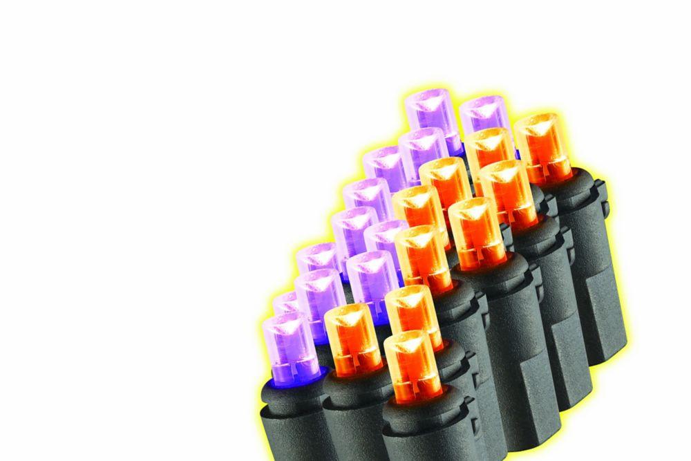 Home Accents Halloween 100-Light Purple & Orange LED Halloween Lights