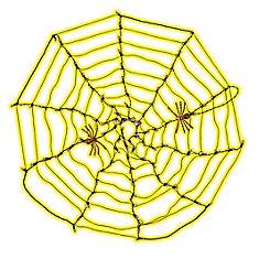Décoration d'Halloween, toile d'araignée, 4pi