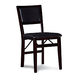 Linon Home Décor Products Padded Back Folding Chair - Espresso