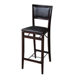 Linon Home Décor Products Padded Back Folding Bar Stool - Espresso