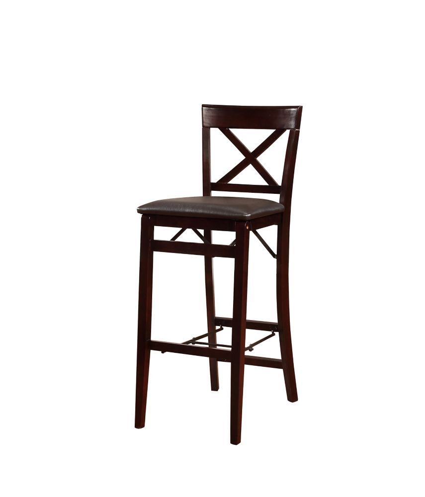Linon Home Décor Products X Back Folding Barr Stool - Espresso