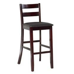 Linon Home Décor Products Soho Triena 30-inch Rich Espresso Cushioned Bar Stool