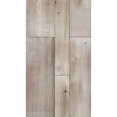 Plancher, bois d'ingéniérie, 4-6-8 po x longeurs variées, Noyer Powdered, 41,34 pi2/boîte