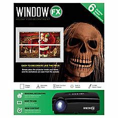 Ensemble de mini-projecteur de départ Window FX, avec 8 vidéos préchargées format horizontal