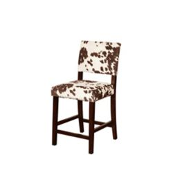 Linon Home Décor Products Corey Manufactured Wood Brown Contemporary Full Back Armless Bar Stool with Brown Microfibre Seat