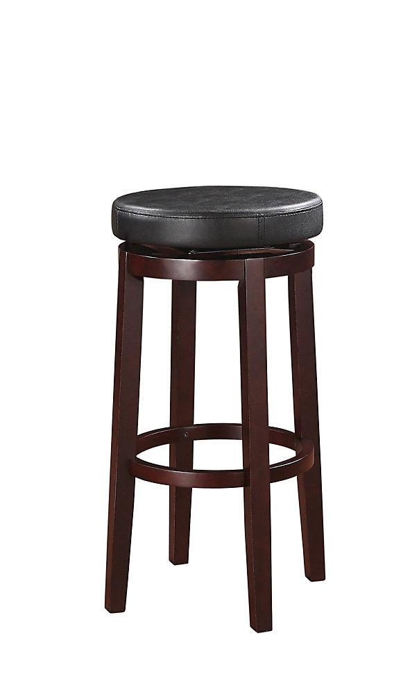 meilleures baskets 0a218 440d9 Tabouret de bar pivotant sans dossier à siège rond - noir