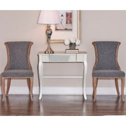 Linon Home Décor Products French Inspired Charcoal Flared Back, Chair Set - (2-Pack)