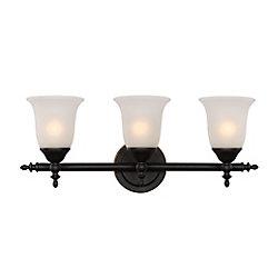 Bel Air Lighting Luminaire de meuble-lavabo à 3 ampoules