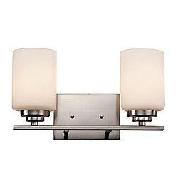 Bel Air Lighting 2- Light 60W Brushed Nickel Vanity Light