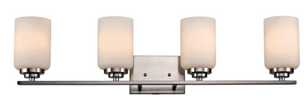 4- Light 60W Brushed Nickel Vanity Light