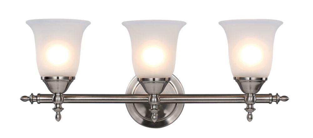 Bel Air Lighting 3- Light Brushed Nickel Vanity Light