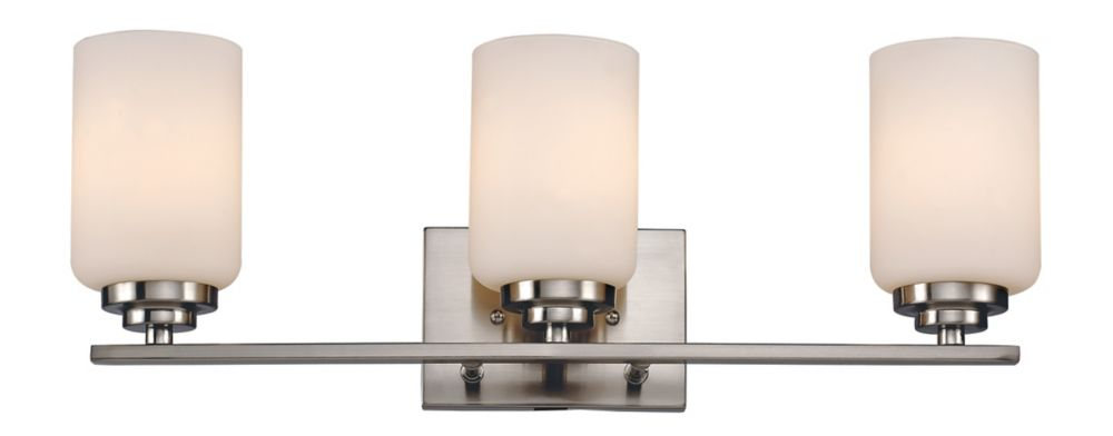 3-Light Brushed Nickel Vanity Light