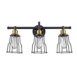 Bel Air Lighting 3-Light Oil Rubbed Bronze Vanity Light Fixture