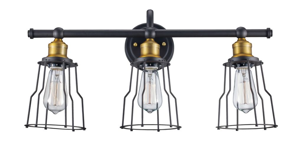 Bel Air Lighting 3-Light Oil Rubbed Bronze Vanity Light