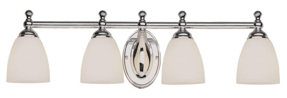 4- Light Polished Chrome Vanity Light