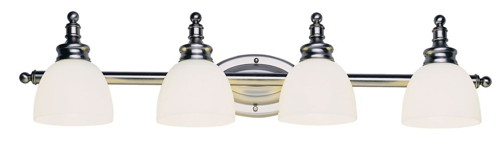 4-Light Antique  Nickel Vanity Light