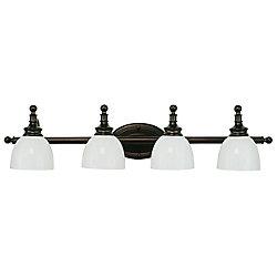 Bel Air Lighting 4-Light Oil Rubbed Bronze Vanity Light