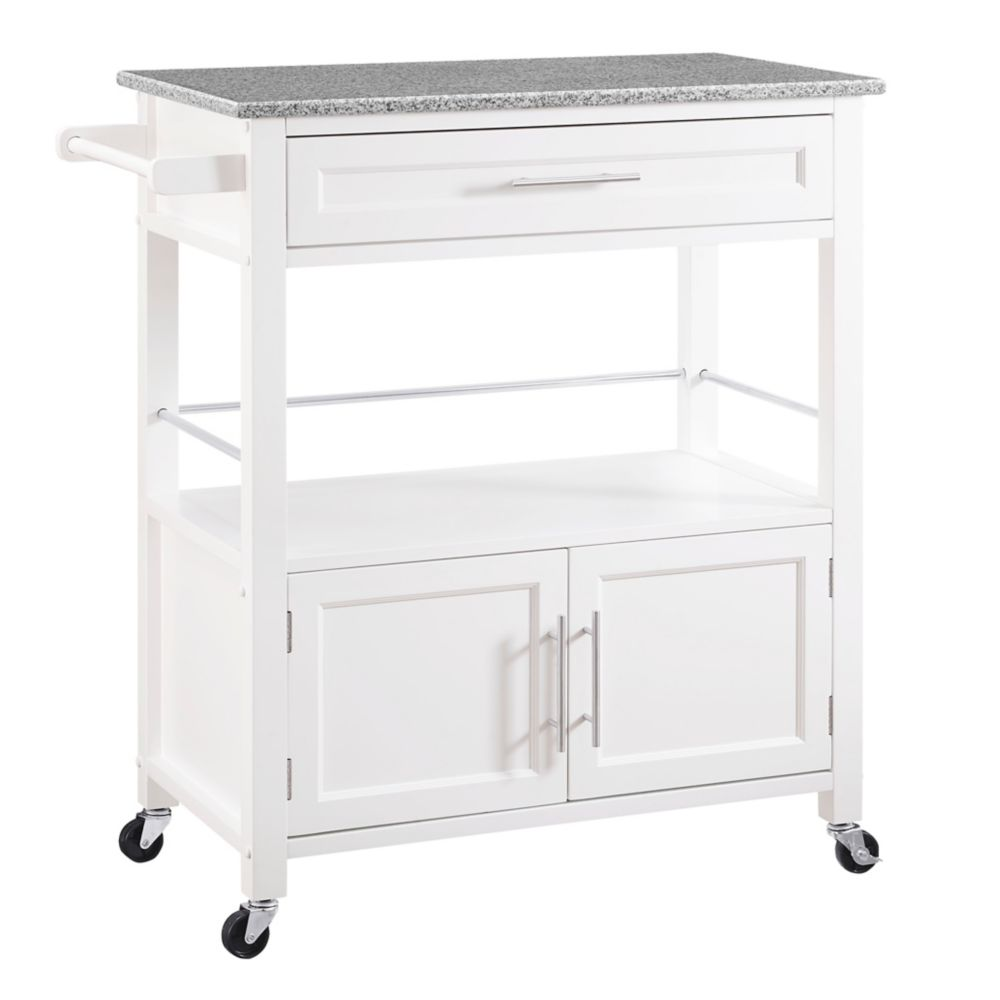 Home styles natural kitchen cart with storage the home depot canada Home styles natural designer utility cart