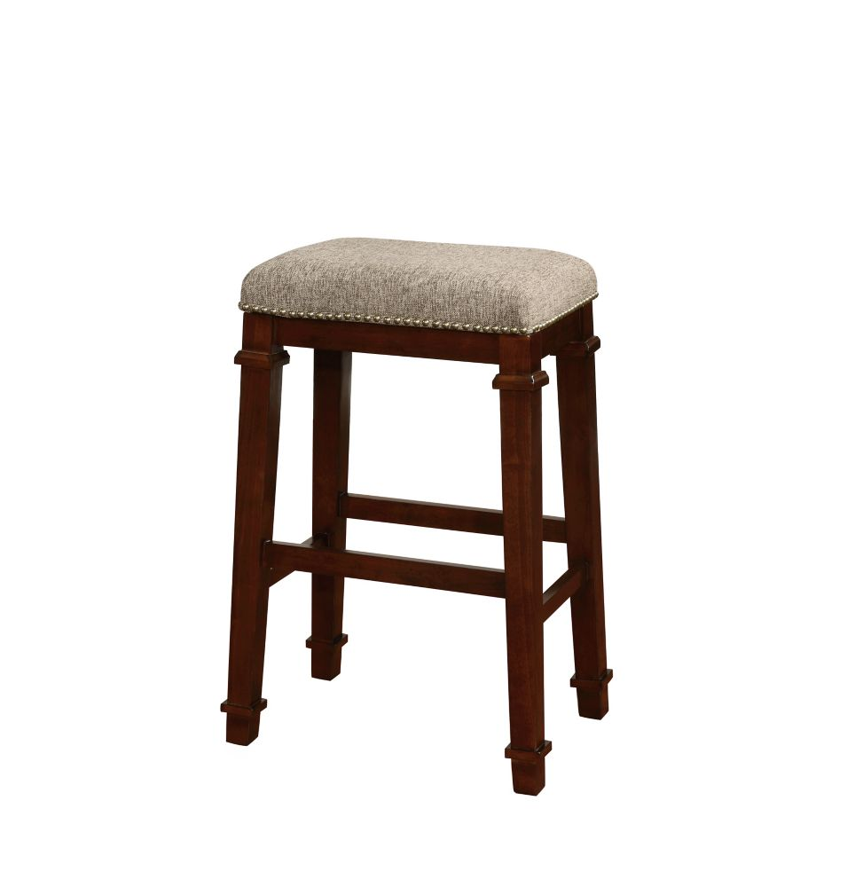 Linon Home Décor Products Kennedy Backless Bar Stool - Tweed