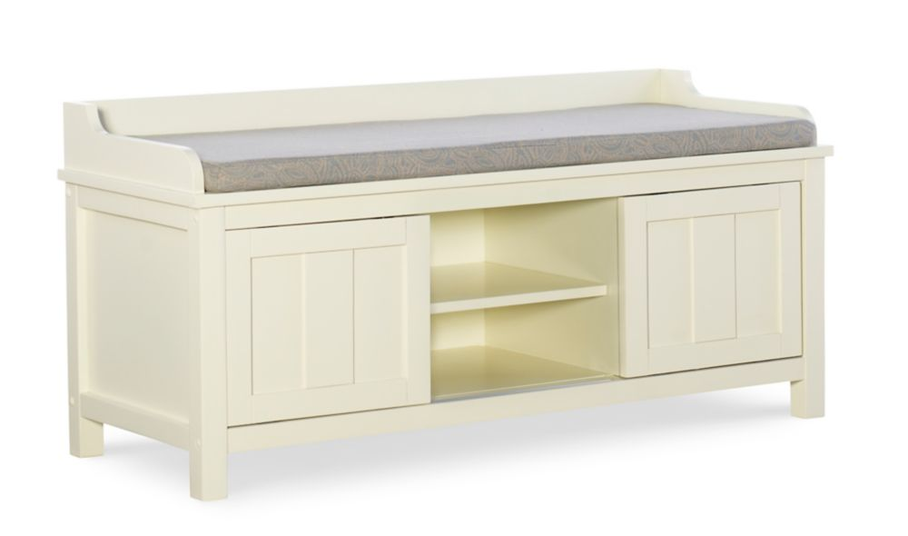 Linon Home Décor Products 45-inch x 20.98-inch x 17.01-inch Manufactured Wood Frame Bench in White