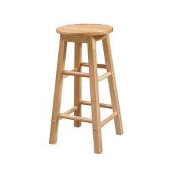 Linon Home Décor Products Classic Carpenters Round Seat Counter Stool - Natural