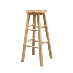 Linon Home Décor Products Classic Carpenters Round Seat Bar Stool - Natural