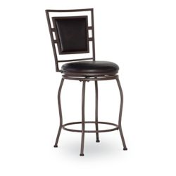 Linon Home Décor Products Padded Back Faux Leather Adjustable Stool (Set of 3)