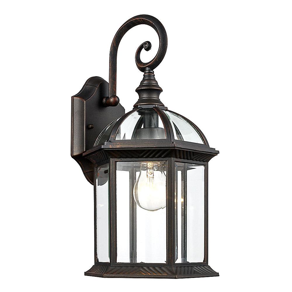 Lanterne cochère rouille d'extérieur à 1 lumière