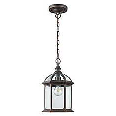 1-Light Outdoor Hanging Rust Lantern