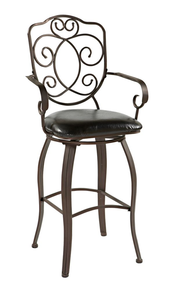 Linon Home D 233 Cor Products Calif Metal Brown Traditional