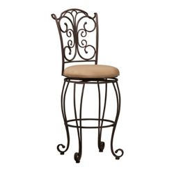 Linon Home Décor Products Tabouret de bar à dossier plissé Design avec siège pivotant