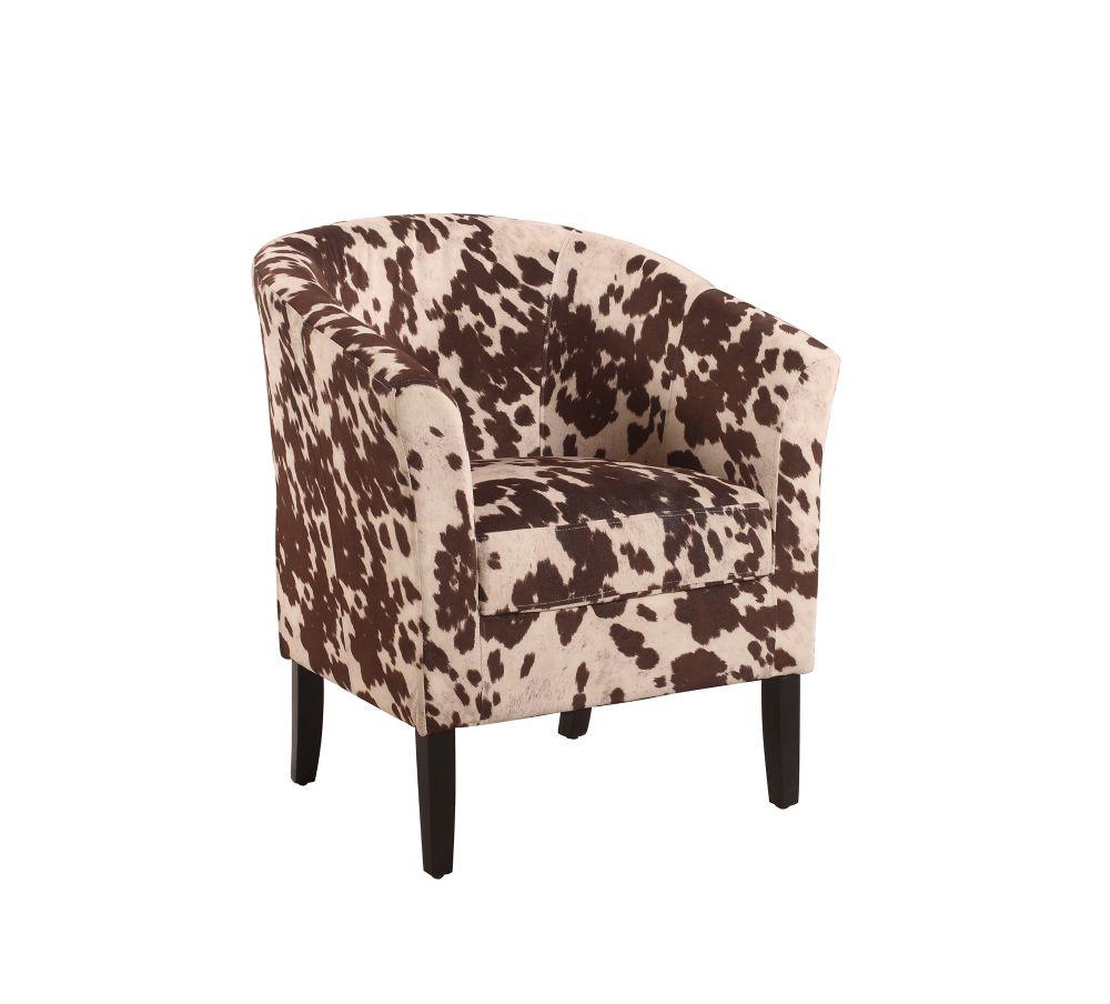 Linon Home Décor Simon Contemporary Microfibre Accent Chair in Brown