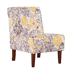 Classic Modern Polyester/Polyester Blend Armless Accent Chair in Grey