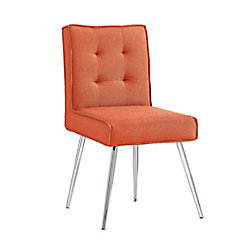 Linon Home Décor Products Multipurpose Orange Chair with 4 Button Back - (Set of 2)