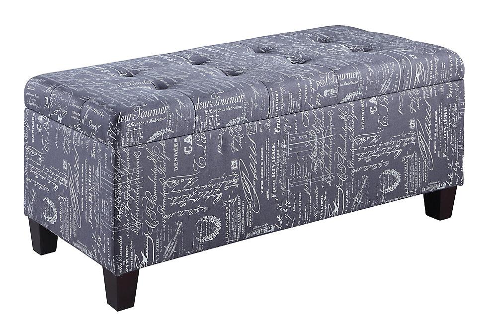 48-inch x 20-inch x 20-inch Ottoman in Grey