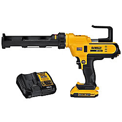DEWALT 20V MAX Lithium-Ion Cordless 300 ml Adhesive Gun Kit with Battery 2Ah and Charger