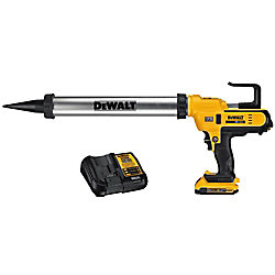 DEWALT 20V MAX Lithium-Ion Cordless 300-600 ml Sausage Pack Adhesive Gun Kit with Battery 2Ah and Charger