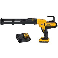 DEWALT 20V MAX Lithium-Ion Cordless 600 ml Adhesive Gun Kit with Battery 2Ah and Charger