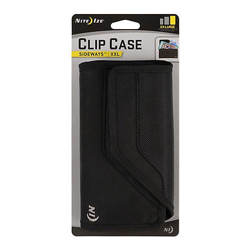 Clip Case Sideways Universal Rugged Holster XXL Black
